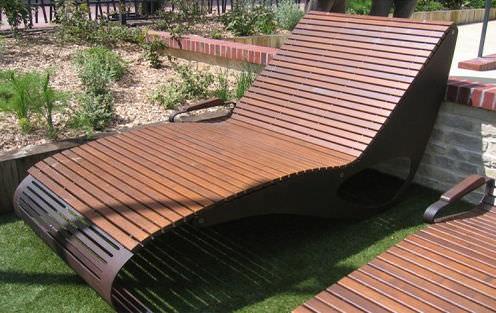... Contemporary Sun Lounger / Wooden / For Public Spaces ...