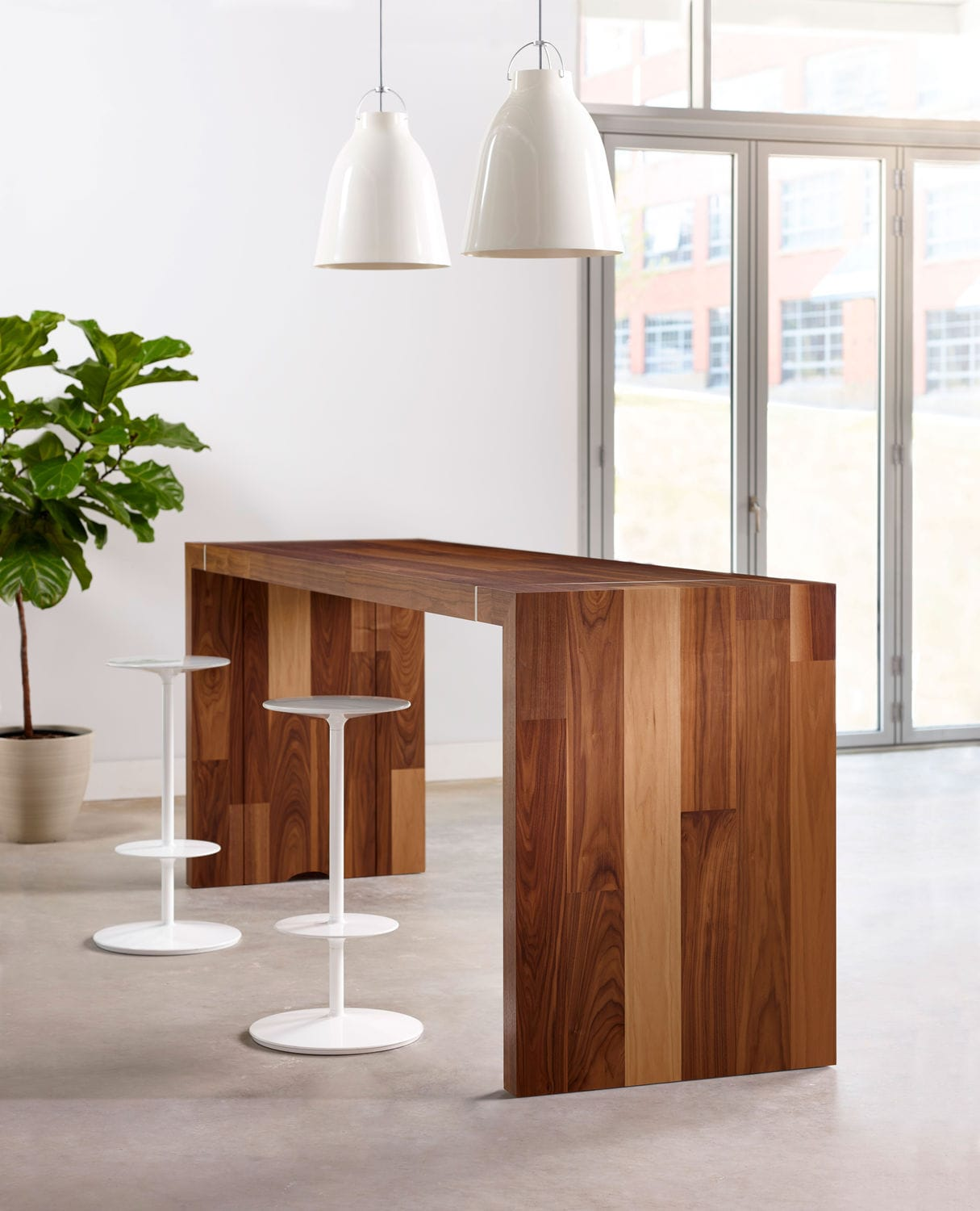 contemporary high bar table  wooden  rectangular  commercial  - contemporary high bar table  wooden  rectangular  commercial tesano byjoey ruiter nucraft