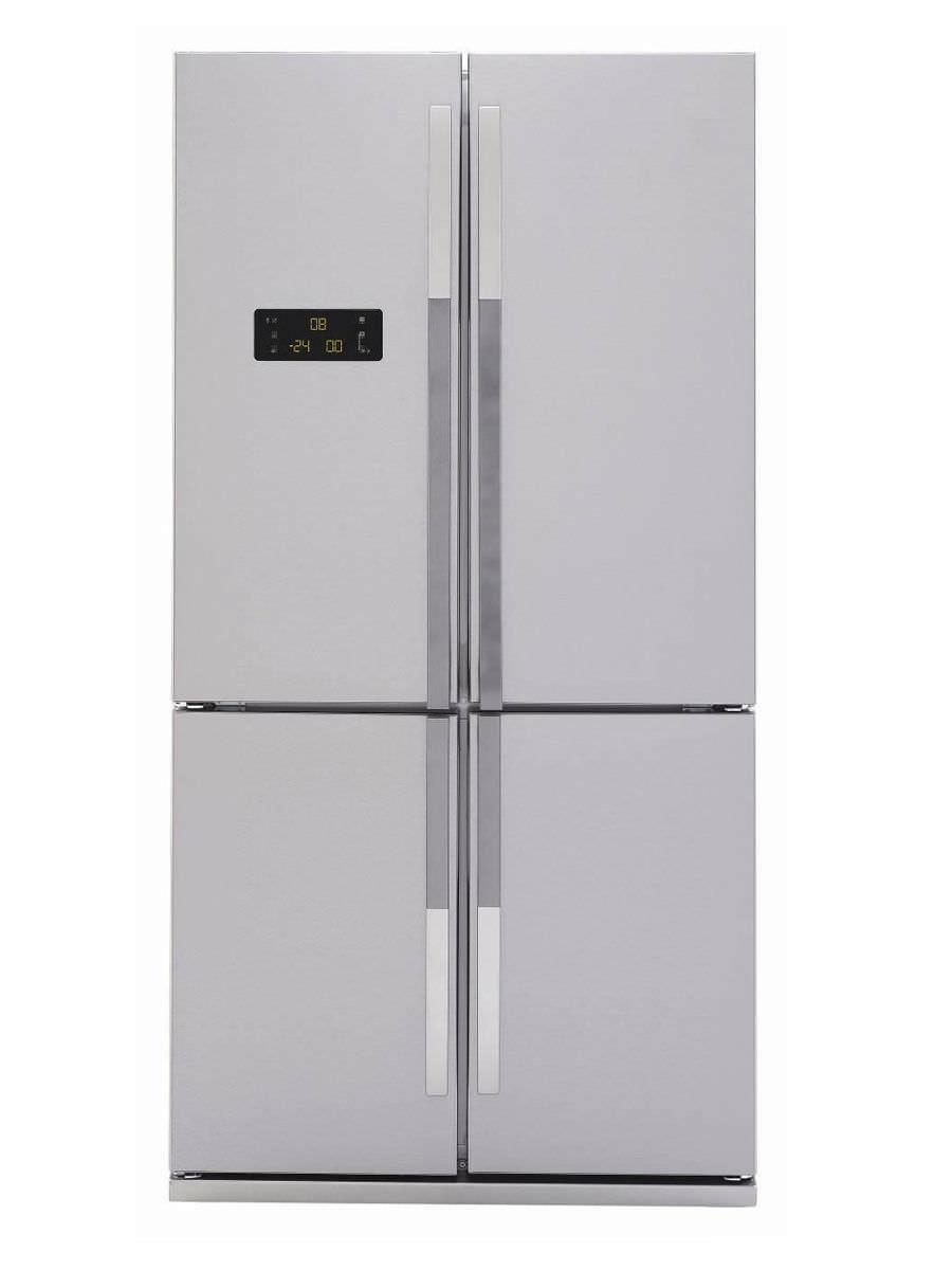 American refrigerator / stainless steel - GNE114610AP - Beko - Videos