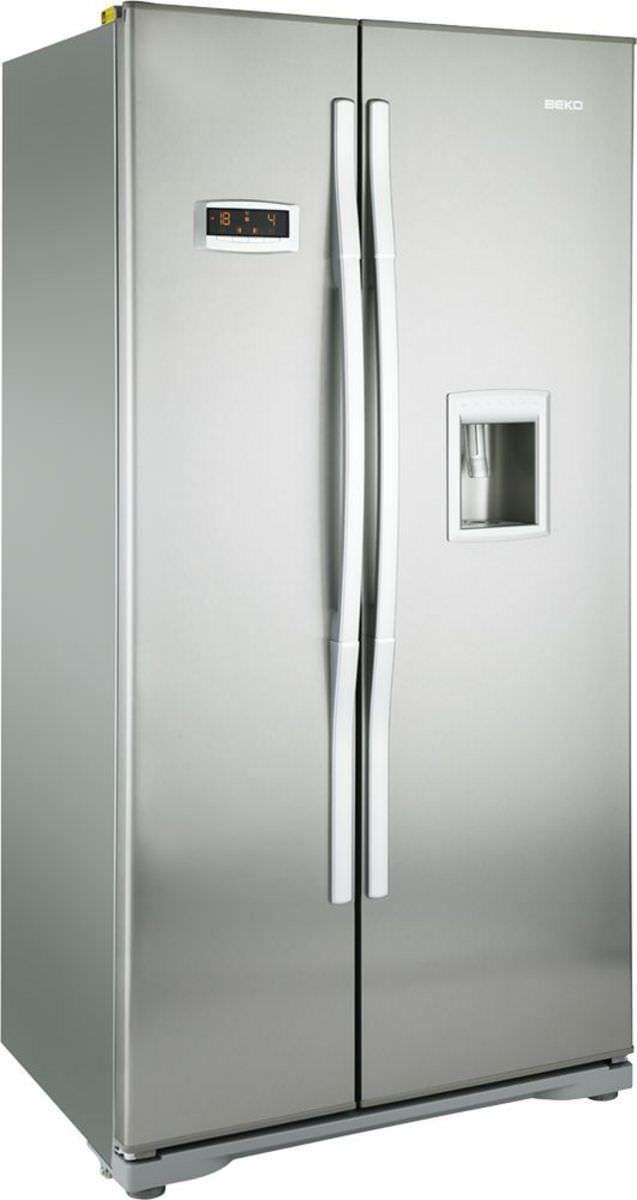American refrigerator / black / built-in - GNEV221AP - Beko - Videos