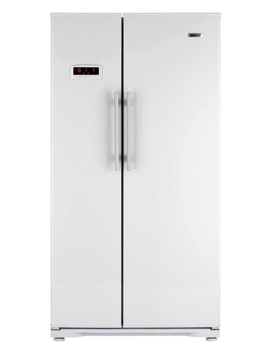 American refrigerator / white - GNEV120AP - Beko - Videos