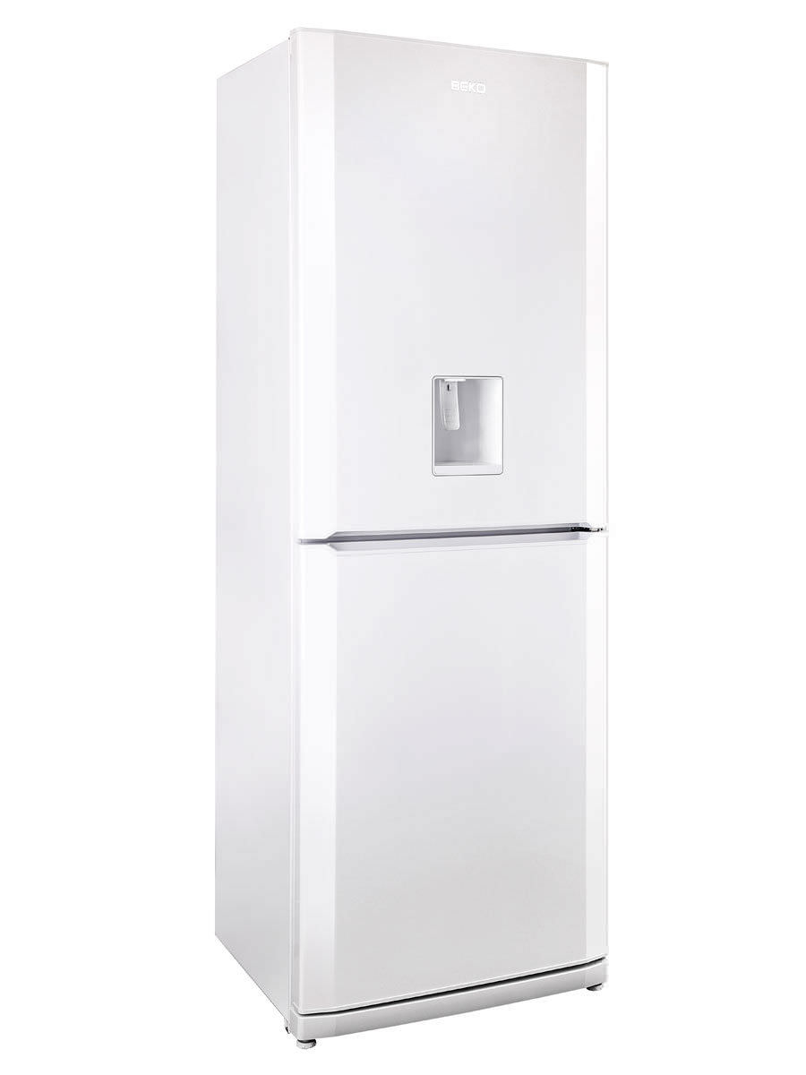 residential refrigerator-freezer / upright / white / with water
