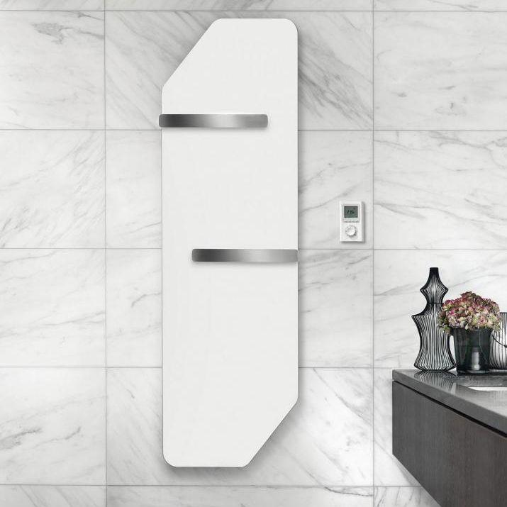 hot water towel radiator electric aluminum wooden folio corner by perry king - Runtal Radiators