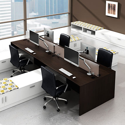 Workstation Desk Laminate Contemporary Commercial Modern