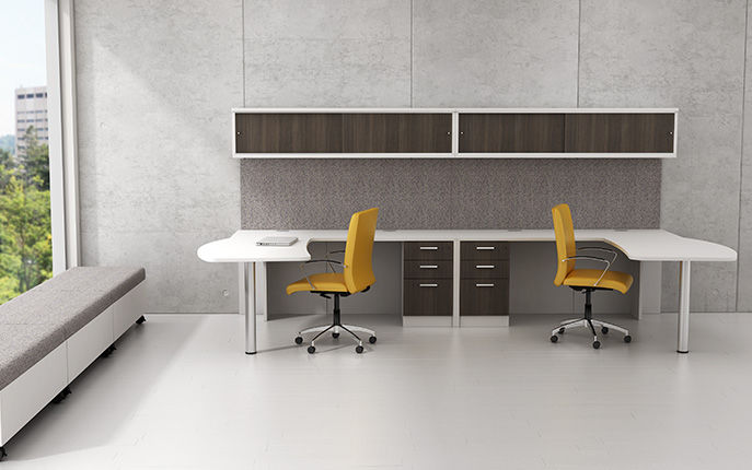 Workstation Desk Laminate Contemporary Commercial Modern Office Furniture Group