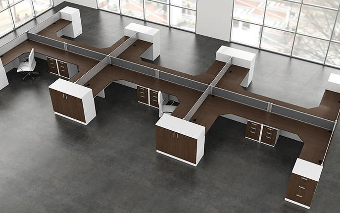 Workstation Desk Laminate Contemporary Commercial Modern Panelx Office Furniture Group