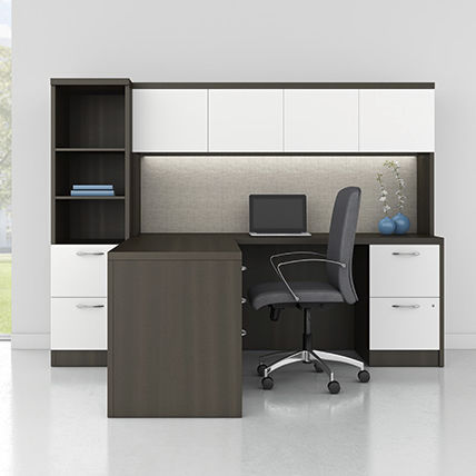 Workstation Desk Wooden Contemporary Commercial Modern Enhanced