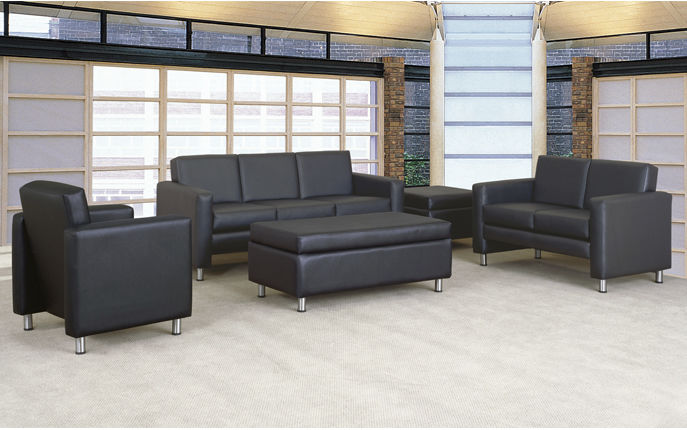 contemporary sofa / leather / commercial / 3-seater - tribute
