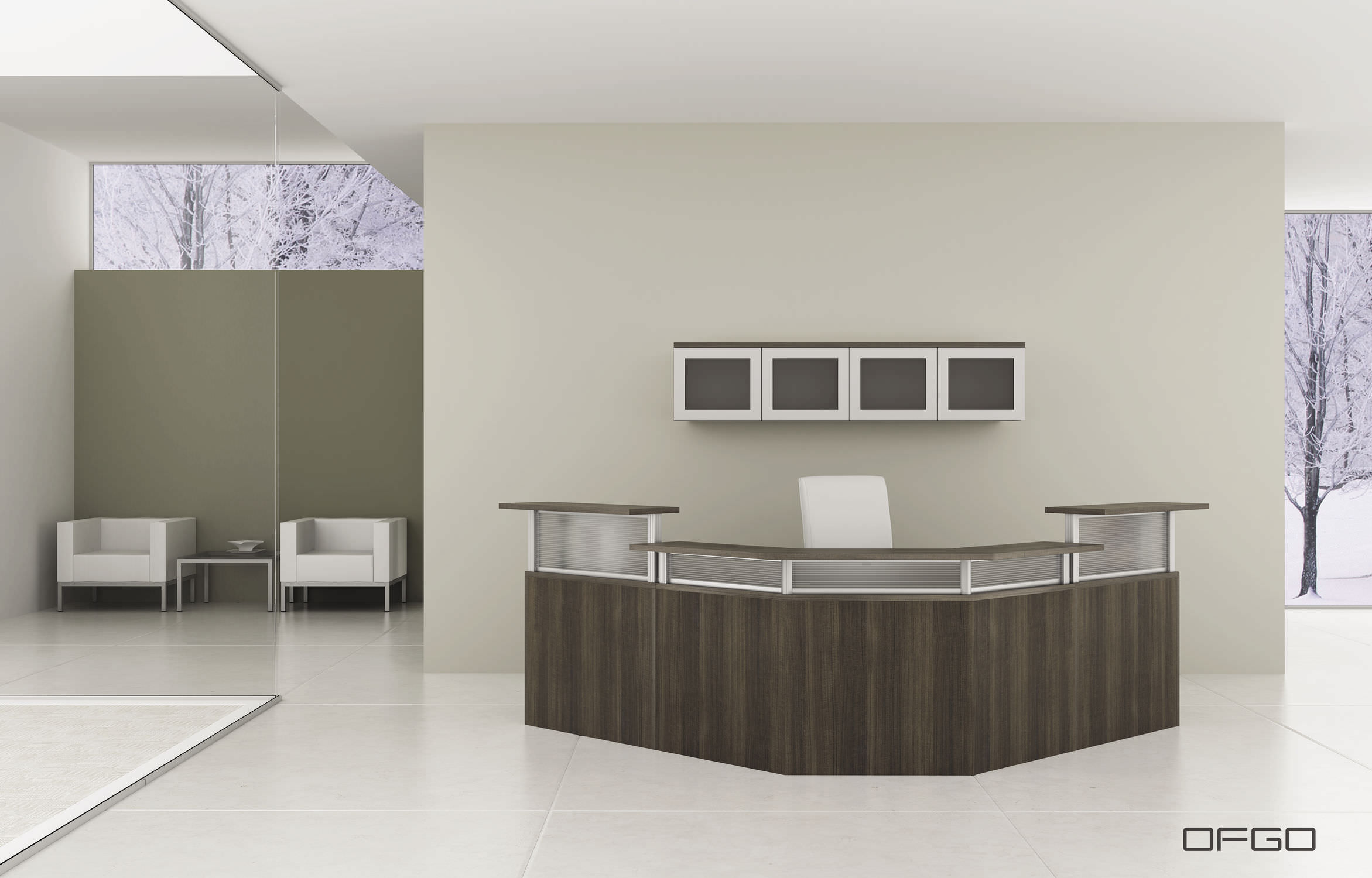Corner Reception Desk Modular Gl Laminate Modern Panelx Office Furniture Group