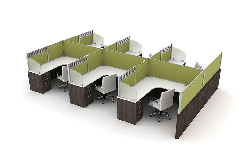 Countertop Office Divider Plastic Laminate Fabric