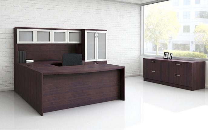 workstation desk wooden contemporary commercial modern enhanced office furniture group - Modern Wood Office Furniture