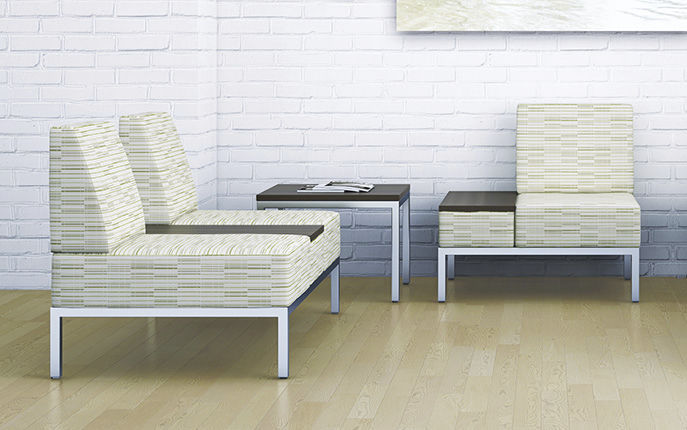 Modular Upholstered Bench / Contemporary / Fabric / Leather REMINGTON  Office Furniture Group ...