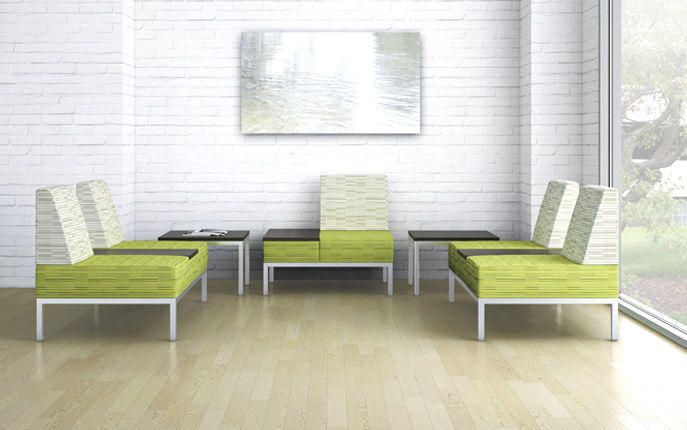 ... Modular Upholstered Bench / Contemporary / Fabric / Leather REMINGTON  Office Furniture Group ...