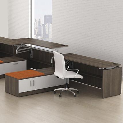 Workstation Desk Steel Laminate Contemporary