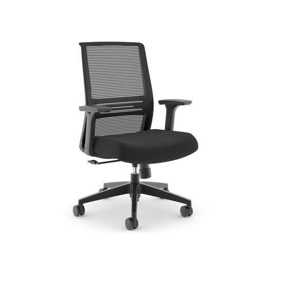 Contemporary office armchair / fabric / swivel / on casters - JOYA ...