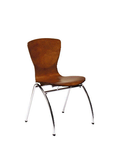 ... Contemporary Visitor Chair / Stackable / Wooden ...