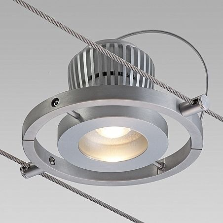 ... LED cable lighting / linear / metal / indoor & LED cable lighting / linear / metal / indoor - ECOTRAPEZE ...