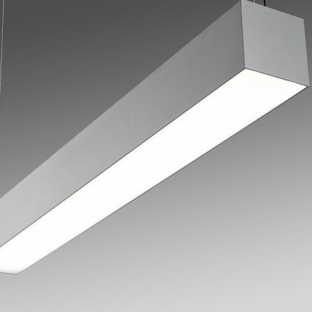 Hanging light fixture / LED / linear / extruded aluminum ...