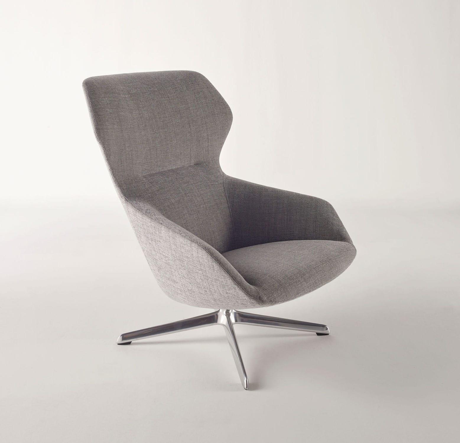 contemporary armchair fabric with armrests high back