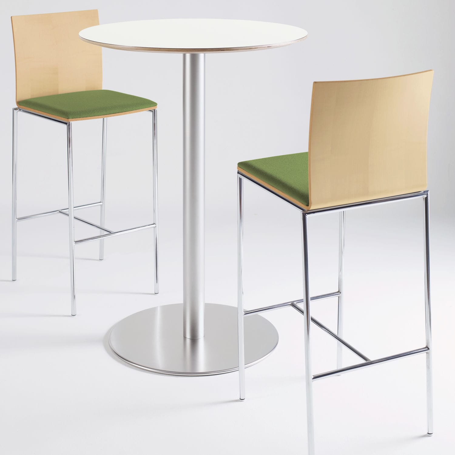 Contemporary High Bar Table Wooden Round Square Veer
