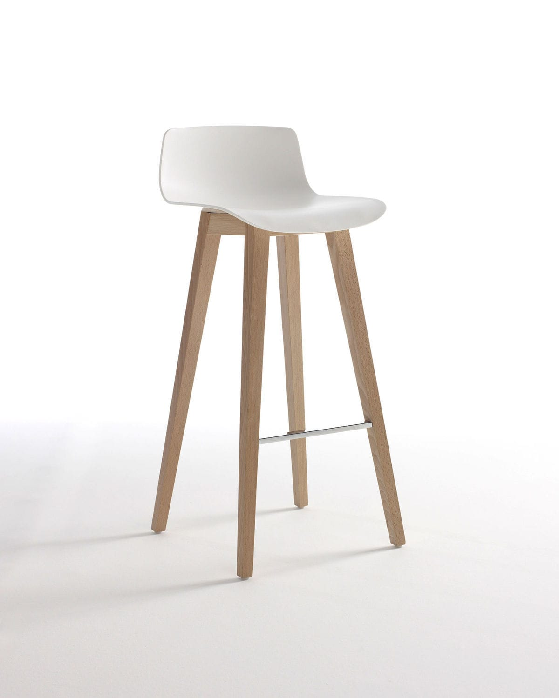 contemporary bar stool  beech  metal  plastic  circo by  - contemporary bar stool  beech  metal  plastic circo by wolfgang crmezger davis