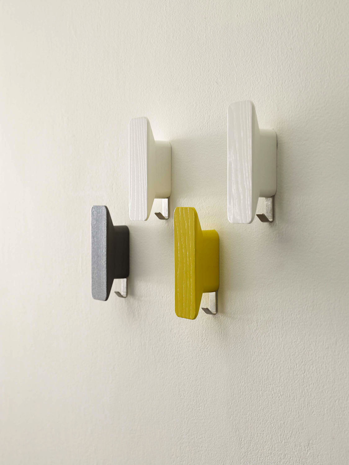 ... Contemporary coat hook / stainless steel / wooden / double PLANE by  Gino Carollo DAVIS ...