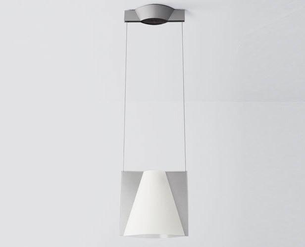 Hanging light fixture / fluorescent / round / aluminum - KO-NO LIGHT ...
