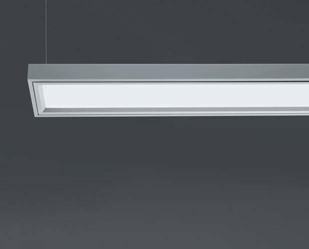 Hanging light fixture  fluorescent  linear  extruded aluminum