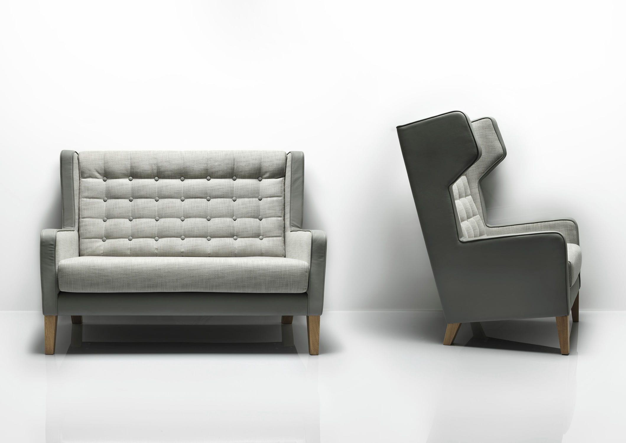 Contemporary Sofa Oak Fabric Commercial Grainger