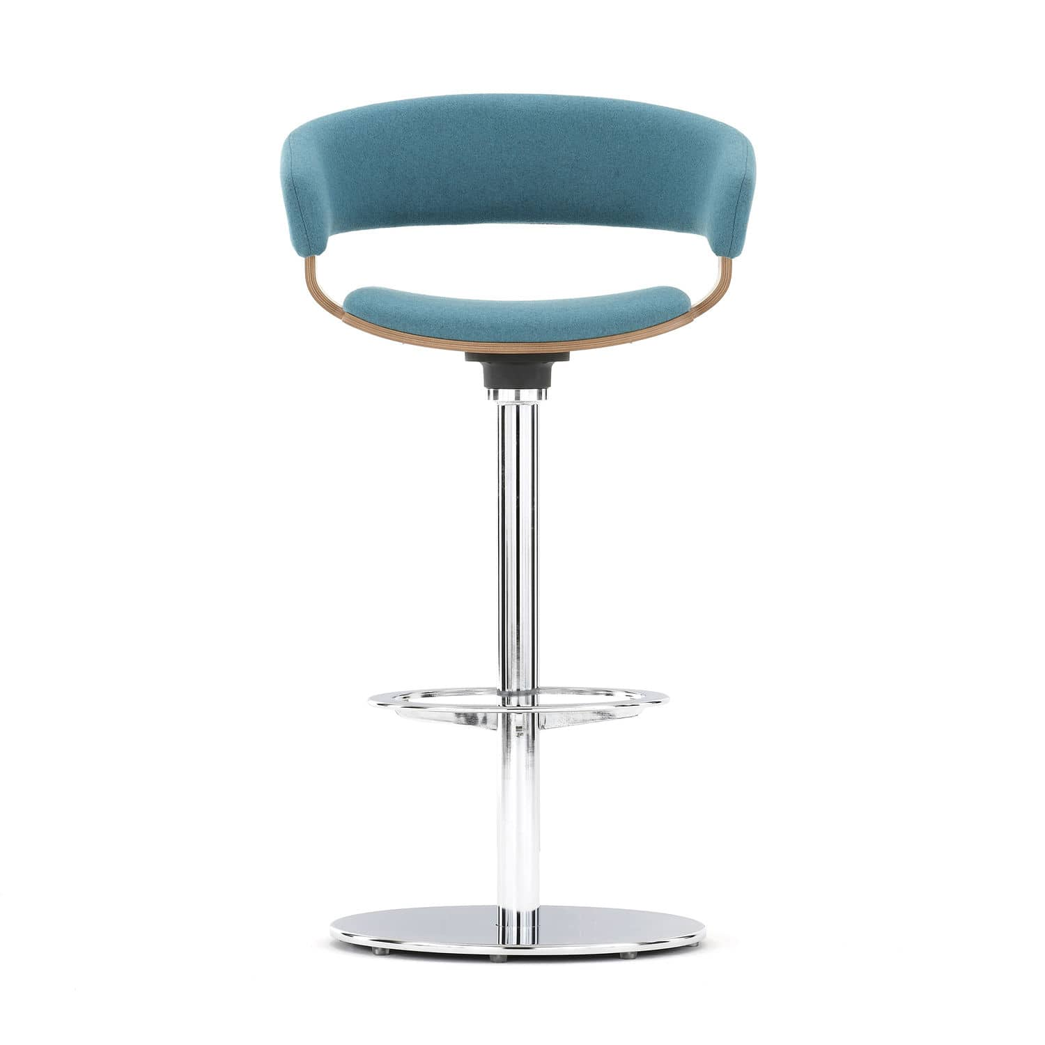 Contemporary Bar Stool Beech Metal Fabric Mollie By John Coleman