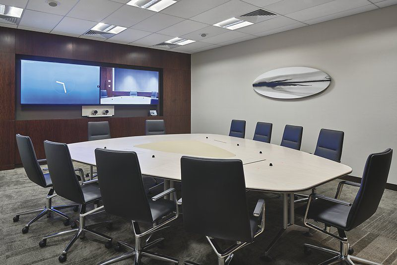 Contemporary boardroom table / wooden / rectangular / with ...