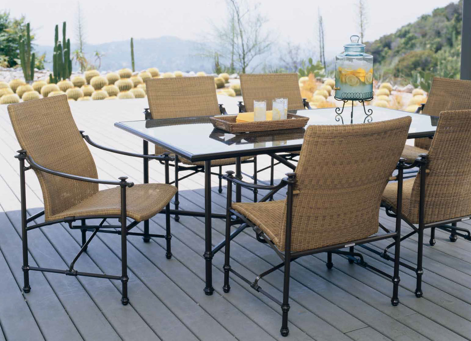 Brown Jordan Outdoor Kitchens Traditional Chair Mesh Aluminum With Armrests Campaign