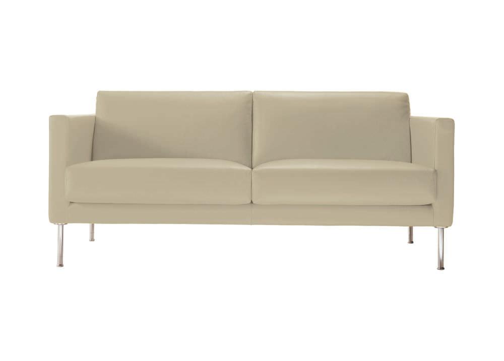 Attirant Contemporary Sofa / Synthetic Leather / Fabric / 2 Person   CUBIC