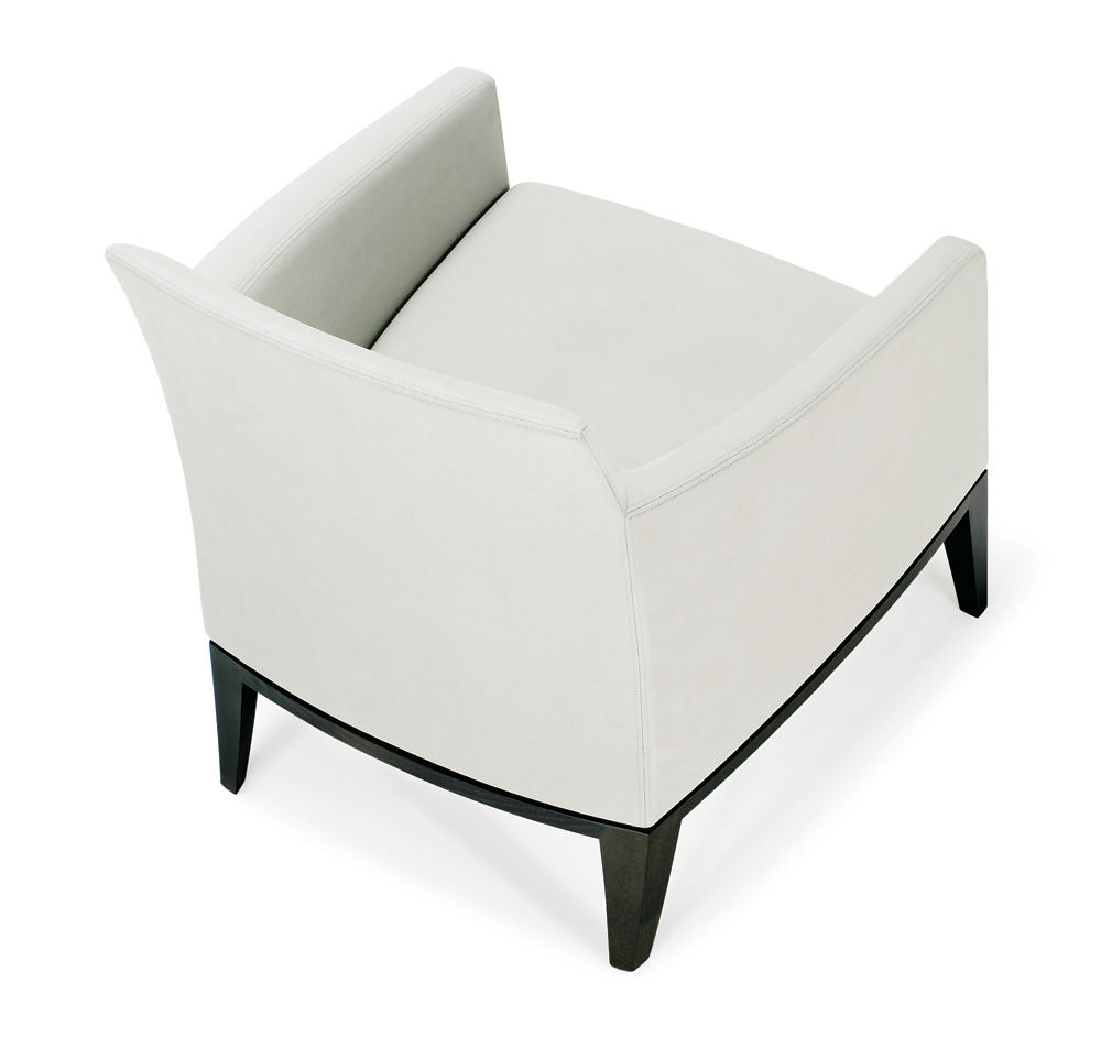 Beige modern armchair - Modern Lounge Chair Wooden Elide