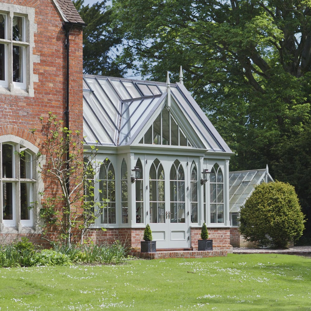 Glass Garden House -  glass conservatory wooden victorian vale garden houses