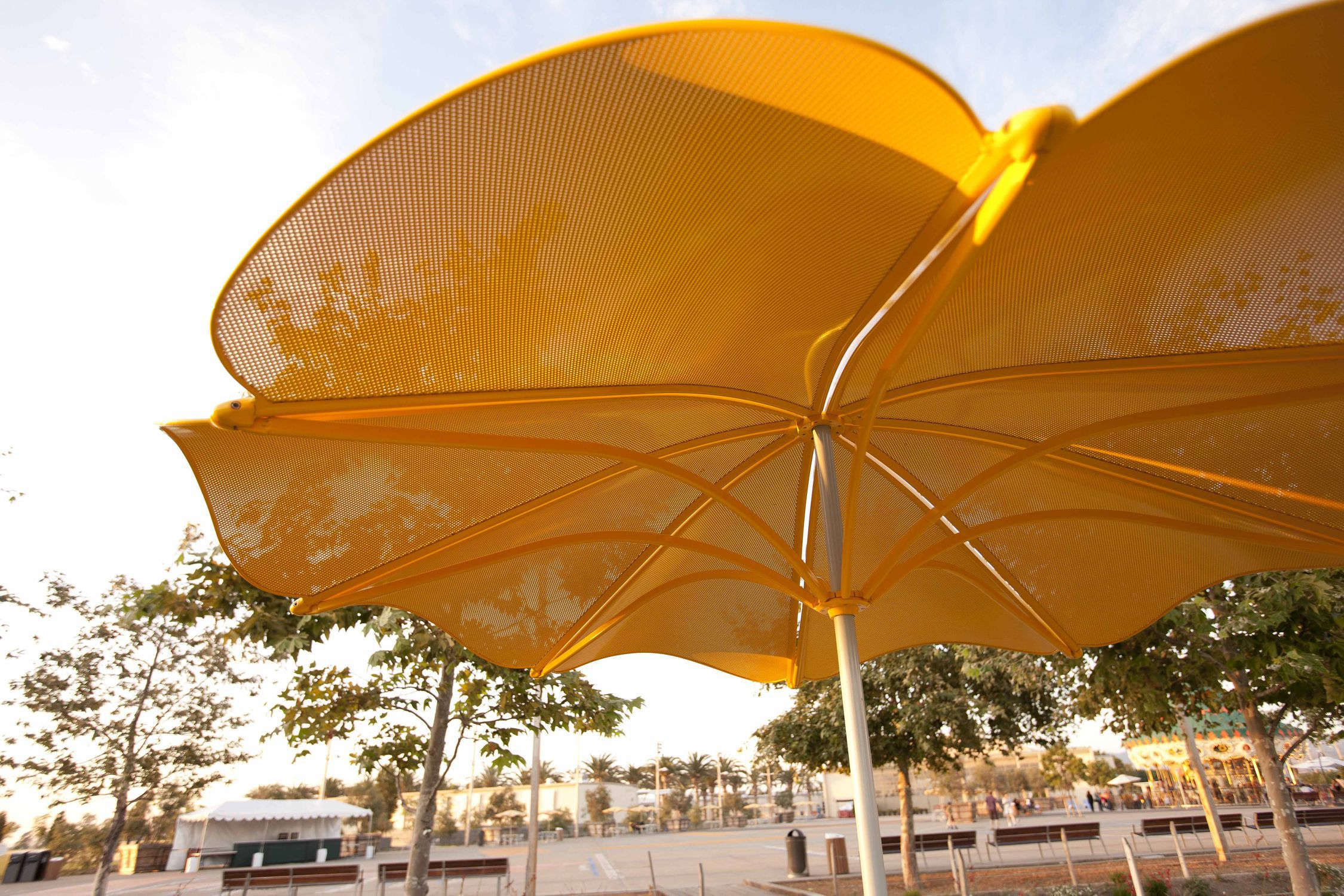 free and tilting patio uv corliving resistant wind garden umbrella home shipping overstock today product