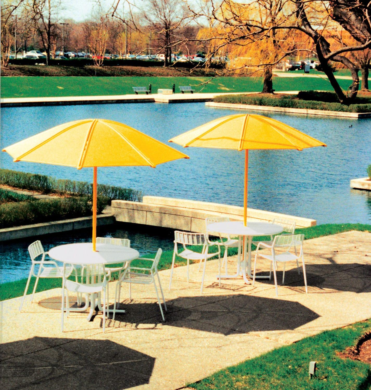 Commercial Patio Umbrella / Metal / Wind Resistant SOLSTICE By Robert  Chipman Landscapeforms ...