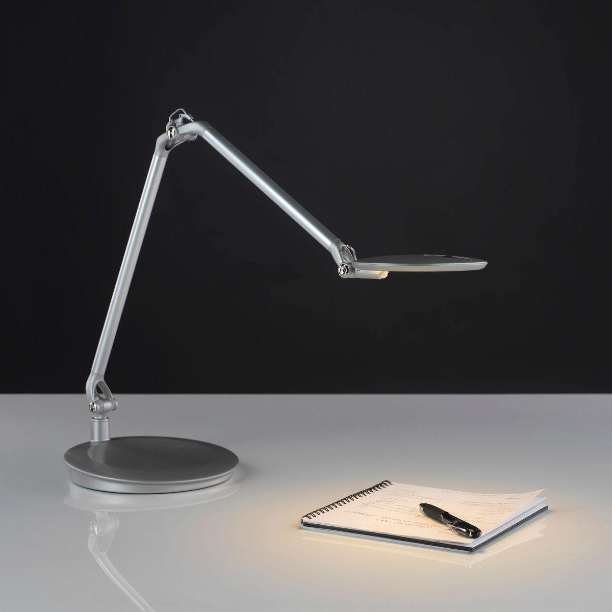 Desk Lamp Contemporary Metal Dimmable Element Disc