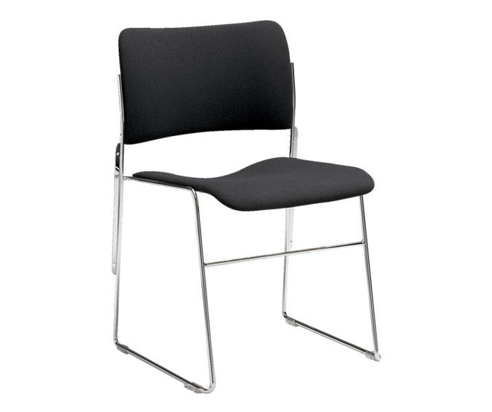 Contemporary Visitor Chair Upholstered Stackable Sled Base 40 4 By David Rowland