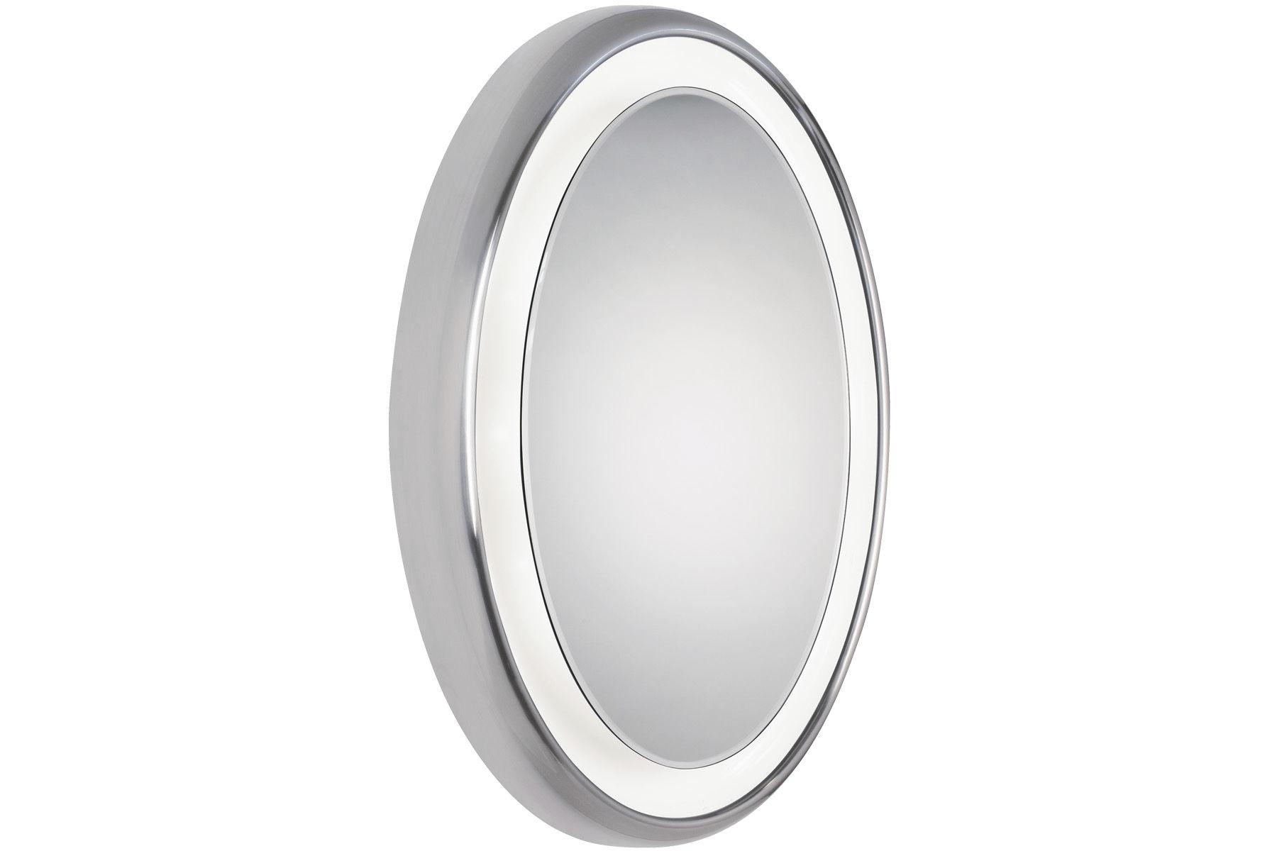 Wall mounted mirror contemporary oval bathroom TIGRIS