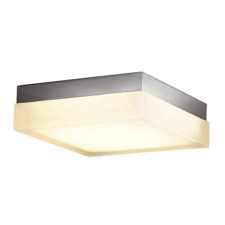 Contemporary Ceiling Light Square Glass LED