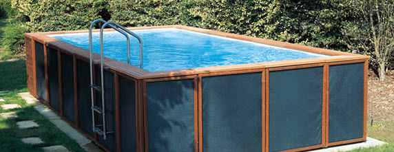 Above ground swimming pool Glass Aboveground Swimming Pool Wooden Outdoor Archiexpo Aboveground Swimming Pool Wooden Outdoor Dolcevita Laghetto