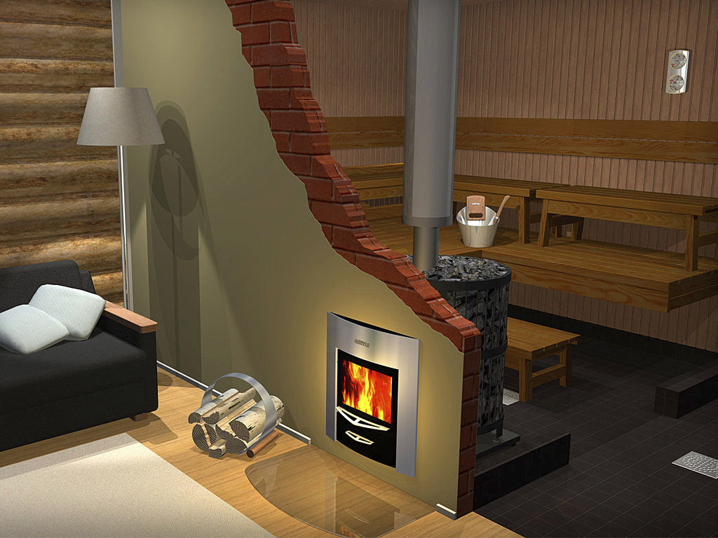 Wood heating stove / contemporary / steel / sauna - LEGEND 240 DUO - Wood Heating Stove / Contemporary / Steel / Sauna - LEGEND 240 DUO