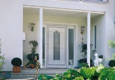 Aluminium front door with sidelight - MODERN ART - HAAS HOCO ITALIA