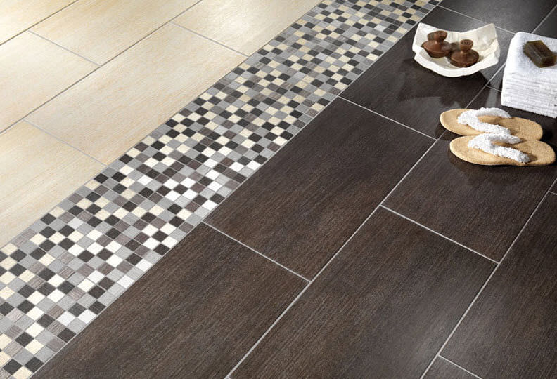 Bathroom porcelain stoneware floor tile: wood look - MODUS - Alfalux