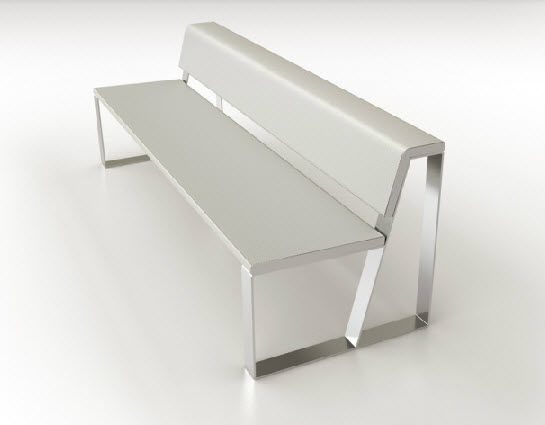 metal benches indoor