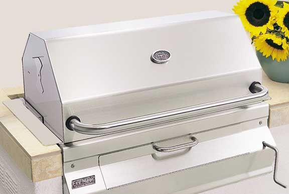 Built-in charcoal barbecue - CUSTOM I - FIRE MAGIC