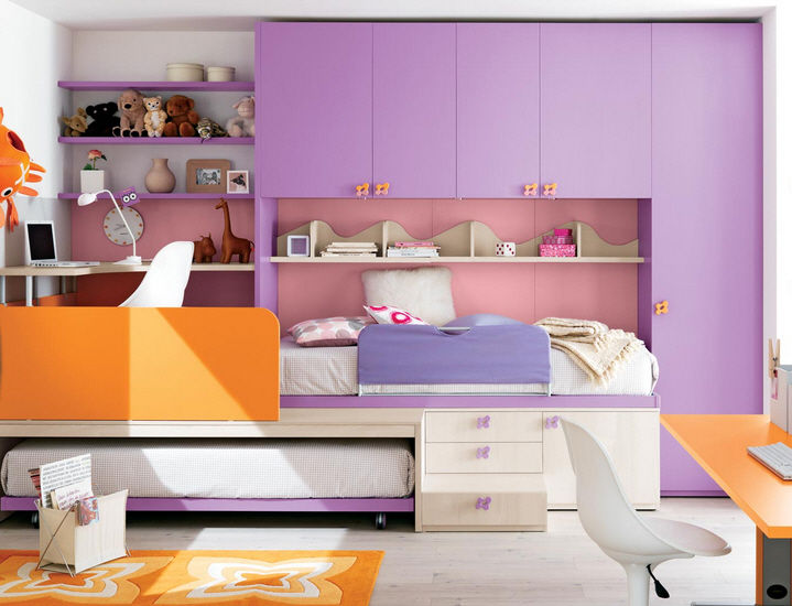 Bunk bed / contemporary / with storage compartment / child's ...