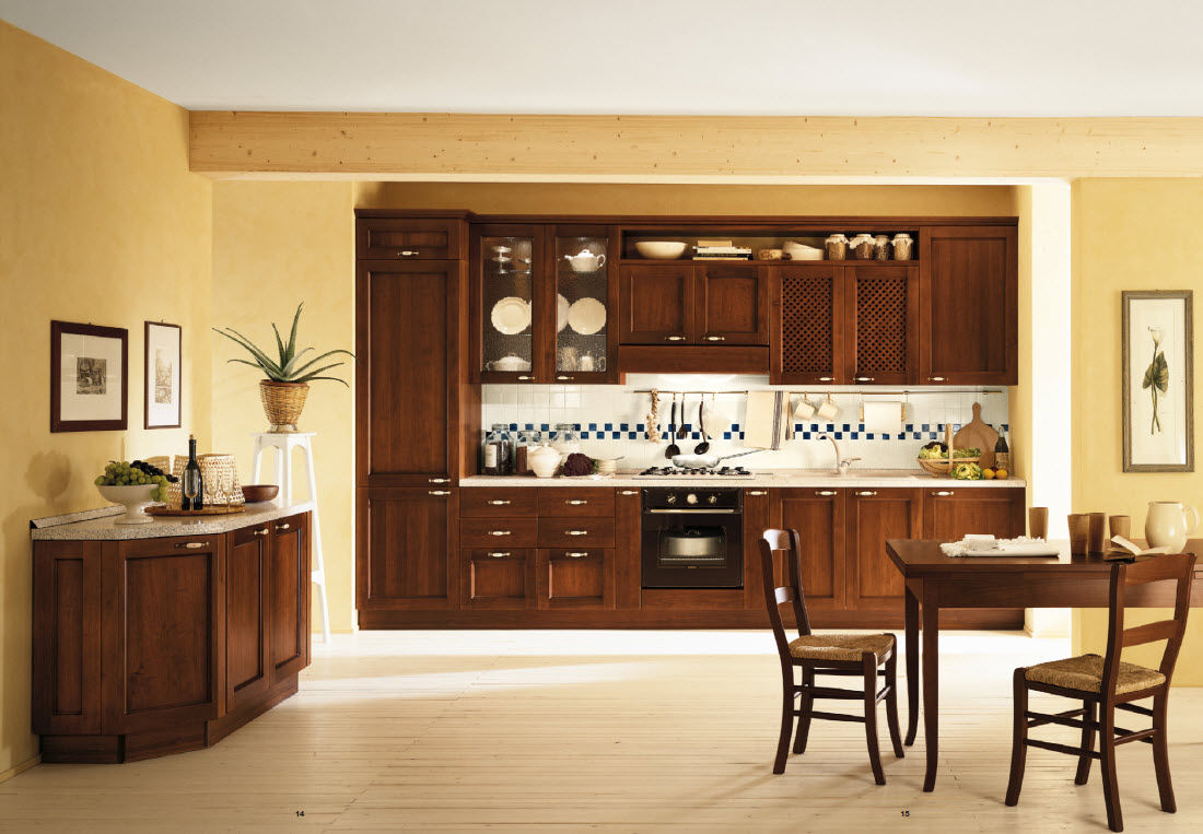 Classic kitchen in stained solid wood - GENNY - Corazzin Group ...
