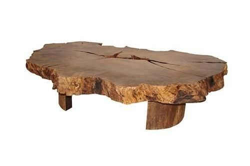 Contemporary coffee table in reclaimed wood - CARP IMBUIA - Rotsen